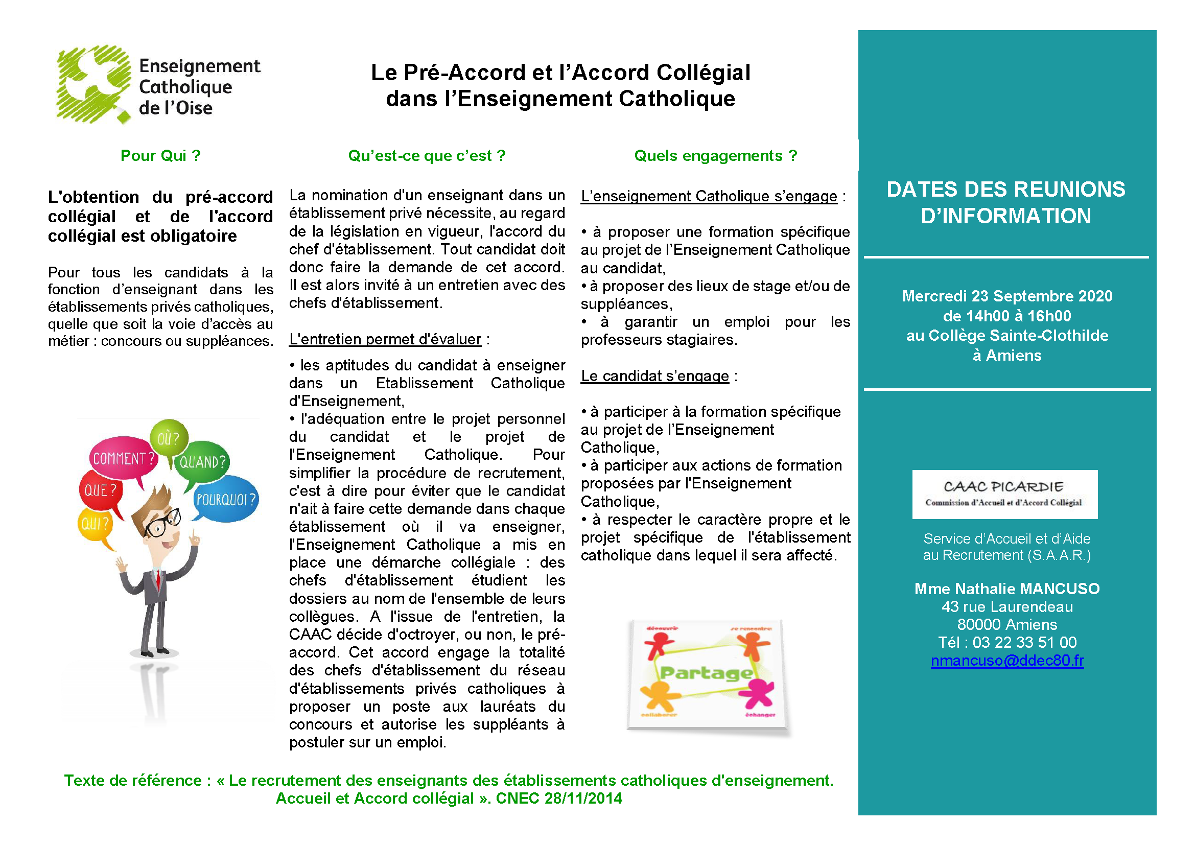 DDEC60 FLYER LE PRE ACCORD COLLEGIAL Septembre 2020 Page 1